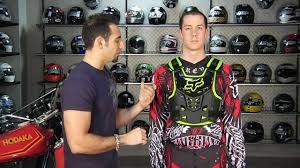 fox motocross chest protector fox racing proframe lc protector review at revzilla com youtube