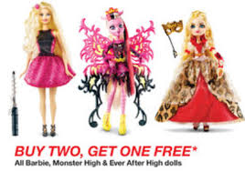 target buy 2 1 free barbie monster u0026