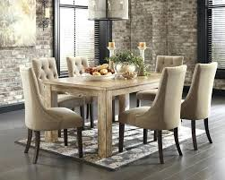dining room set with black leather chairs hickory chair furniture