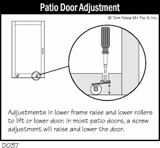 Replacing Patio Door Patio Door Sticks In Winter Misterfix It Com