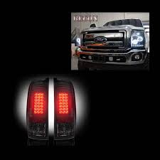 2016 f350 tail lights recon smoked projector headlights smoked led tail lights package