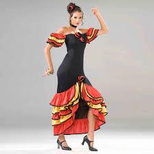 spanish flamenco dancing costume
