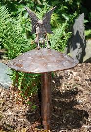 large garden ornaments on antique bronze
