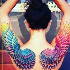 gorgeous rainbow wings tattoo venice tattoo art designs tattoo