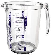doseur cuisine fackelmann 41355 verre doseur professionnel plastique san 1 l