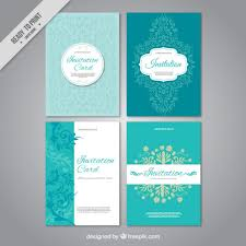 Invations Set Of Wedding Invitations Vector Free Download