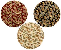 Round Flower Rugs Floral Round Rugs Roselawnlutheran