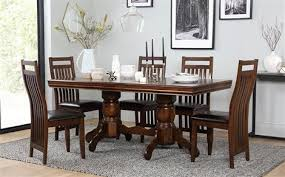 furniture dining room sets chatsworth extending wood dining table and 6 chairs set boston