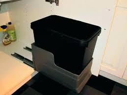garbage can under the sink under cabinet trash compactor inside cabinet trash can out trash can