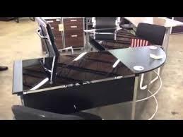 Realspace L Shaped Desk Glass L Shaped Desk In Miami