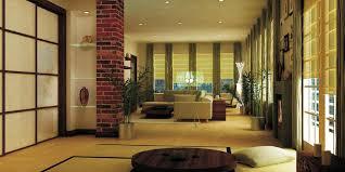 interior lovely zen home interior ideas with column brick