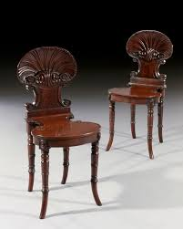 247 best regency images on stunning pair of regency shell back chairs attributable to