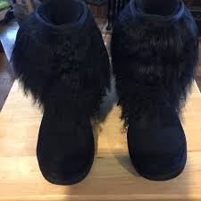 womens ugg boots size 8 99 ugg boots size 8 ugg black sheepskin cuff boot from