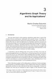 algorithmic graph theory and its applications springer