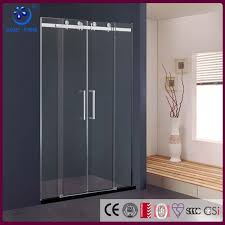 frameless dual sliding shower door 60 in width 3 8