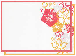 blank invitations finishing blank invitation card stock famed flower theme