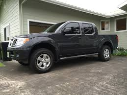 nissan trucks lifted lifted truck with 265 70r16 any pictures nissan frontier forum