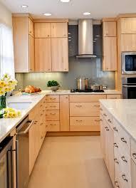 maple kitchen cabinets contemporary home design ideas