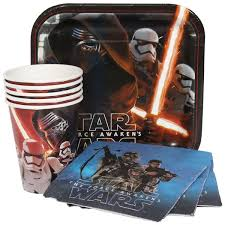 wars party supplies wars the awakens party package for 8 at dollar carousel