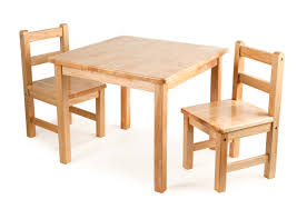 Art Desk Kids by Classic Wooden Table U0026 2 Chairs Natural For Children In S A