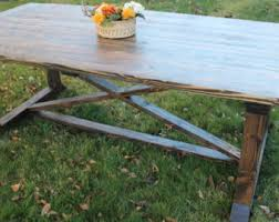 Farm Table With Bench And Chairs Farmhouse Table Etsy