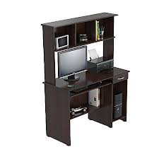 Espresso Computer Desk Inval Computer Workcenter With Hutch Espresso Wengue By Office