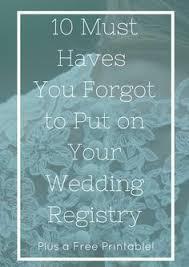 wedding registry book top must wedding registry items