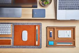 Small Desk Pad Get Organized With The Grovemade Desk Shelf System Of Many