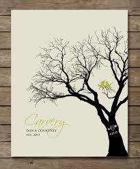 personalized wedding gift family tree birds in tree