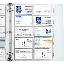 business card holder poly with tabs 5 pk 61117 c line products