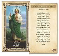 prayer to st jude prayer card single card office