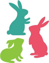 bunny lapin silhouettes avec motifs clipart par collectivecreation