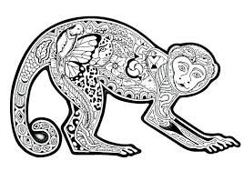 Free Coloring Pages Printable Monkey Coloring Pages Free Coloring Page Difficult by Free Coloring Pages