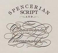 spencerian script writing penmanship books spencerian script