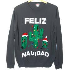 feliz navidad tacky ugly christmas sweater ugly sweater shop