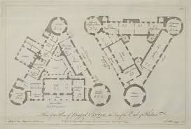 antique print plans of two floors of longford castle the seat