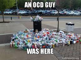 an ocd guy was here canadian football fans meme make a meme
