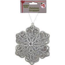 events silver snowflake ornament
