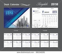 Calendar 2018 Ai Template 2018 Calendar Stock Images Royalty Free Images Vectors