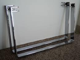 chromed steel sleigh table legs julesmoderne com