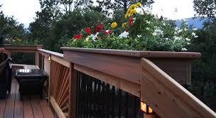 deck lowes pots railing planter boxes deck railing planters