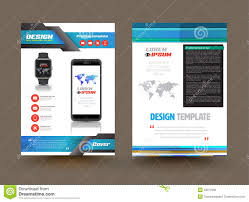 product brochure template free vector brochure template design for technology product stock