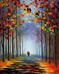 autumn fog 4 u2014 palette knife oil painting on canvas by leonid