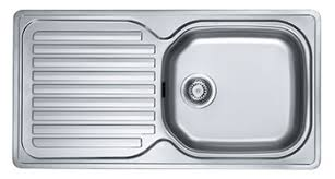 Inset Sinks Kitchen Stainless Steel by Franke Elba Reversible One Bowl Single Drainer Inset Sink