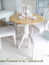 Shabby Chic Dining Table Sets Amazing Of Shabby Chic Round Dining Table And Chairs Round Kitchen