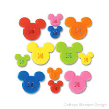 disney stickers mickey mouse adhesive button label