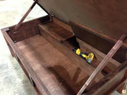plans for coffee table with hidden gun storage diy free drawers