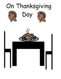 on thanksgiving dinner adapted interactive book by autism speech