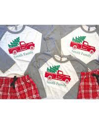 sale family truck pajamas family