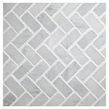 Ann Sacks Kitchen Backsplash by Large Herringbone White Marble With Ribbons Of Grey Would Be